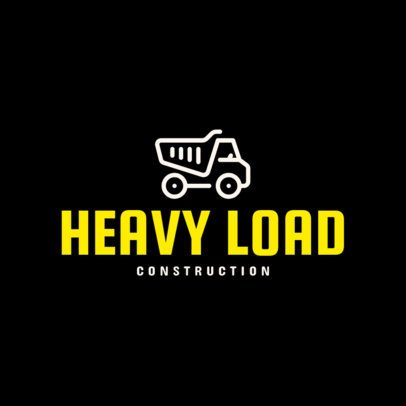 Simple Logo Creator with a Construction Truck Graphic 264b-el