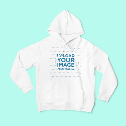 Pullover Hoodie Mockup Placed on a Solid Surface 1800-el
