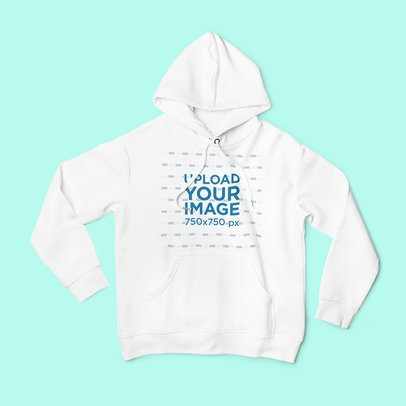 Pullover Hoodie Mockup Placed on a Solid Surface 1800-el1