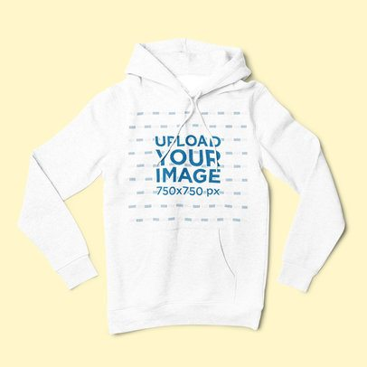 Pullover Hoodie Mockup Lying over a Flat Surface 1801-el