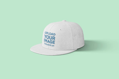 Mockup of a Snapback Hat on a Solid Surface 1489-el