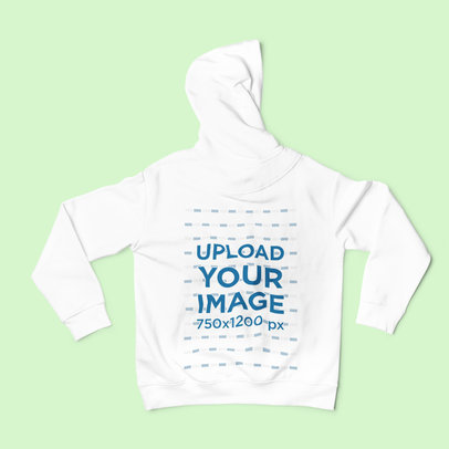Back View Mockup of a Hoodie Placed on a Solid Surface 2023-el