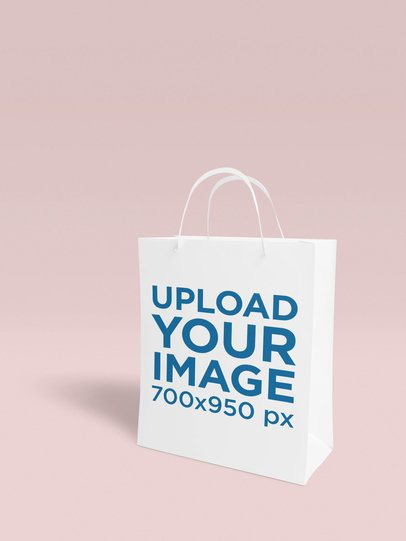 Gift Bag Mockup Featuring a Customizable Backdrop 1519-el