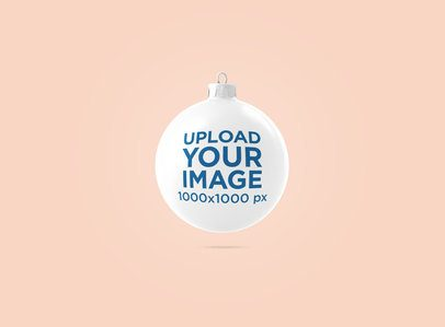 Christmas Ornament Mockup with a Solid Color Background 1831-el