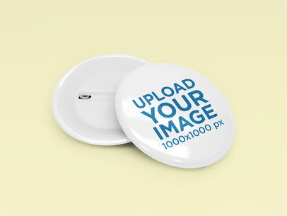 Button Mockup Featuring a Customizable Backdrop 1522-el