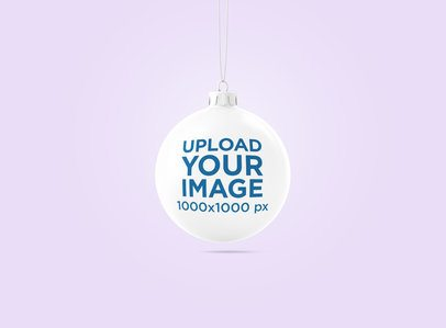 Mockup of a Christmas Ball Hanging in a Minimalistic Scenery 1834-el