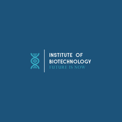 Logo Design Template for a Biotechnology Institute 287-el