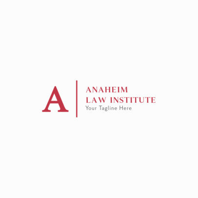 Simple Logo Design Maker for a Law Institute 287a-el