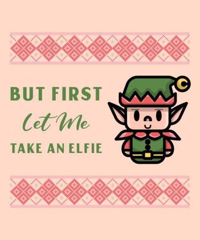 Cartoonish T-Shirt Design Maker Featuring a Cute Christmas Elf 317b-el