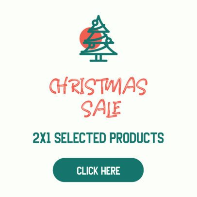 Online Banner Maker for a Christmas Sale 307a-el
