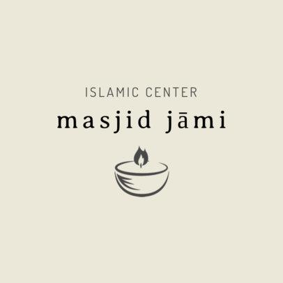 Logo Template for an Islamic Center 2783f