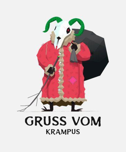 Holiday T-Shirt Design Maker with a Krampus Illustration 174b-el