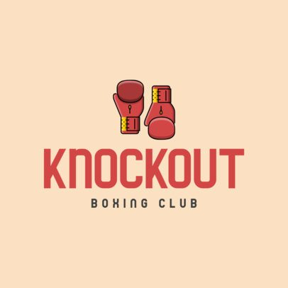Simple Logo Template for a Boxing Club 335b-el1