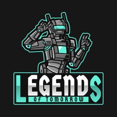 Gaming Logo Maker Based on Apex Legends Featuring a Robot 2791i