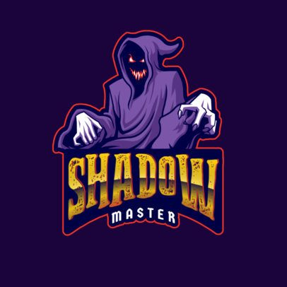 Gaming Logo Template Featuring a Hooded Entity 2786o
