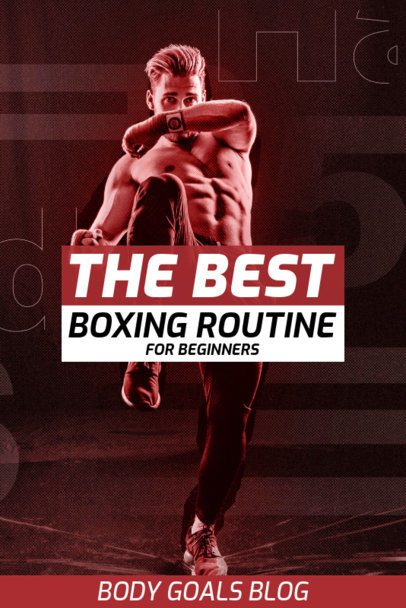 Pinterest Pin Template for Boxing Tips 2085b