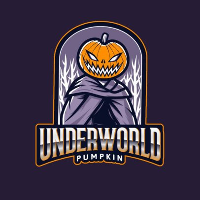 Logo Design Maker for a Horror Theme with a Spooky Pumpkin Graphic 2786r
