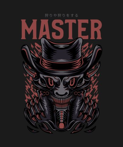 Street Art-Styled T-Shirt Design Template Featuring a Demonic Character 36-el1