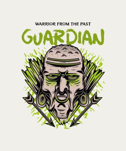 T-Shirt Design Maker Featuring a Tribal Guardian 36g-el1