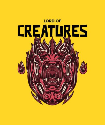T-Shirt Design Creator with an Illustrated Creature 36j-el1