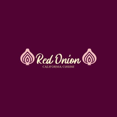 Restaurant Logo Maker with an Onion Clipart 286a-el1