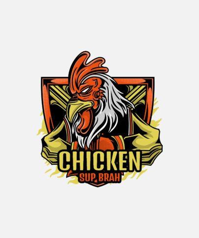T-Shirt Design Maker Featuring a Boxing Chicken Clipart 38f-el1