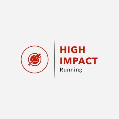 Minimalist Running Logo Design Template 1543a