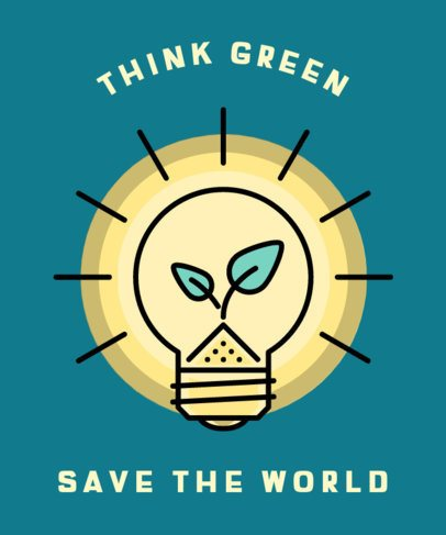 T-Shirt Design Creator with a Green Energy Message 338b-el1