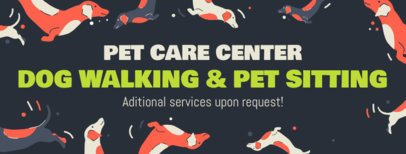 Facebook Cover Template Featuring Pets Illustrations 2120