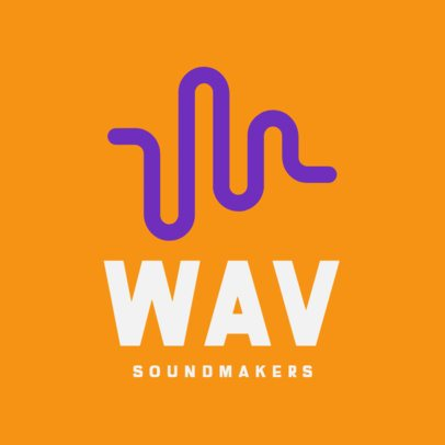 Music Logo Template with a Sound Wave Graphic 408a-el1