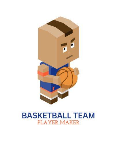 T-Shirt Design Maker Featuring Basketball Players 198-el1