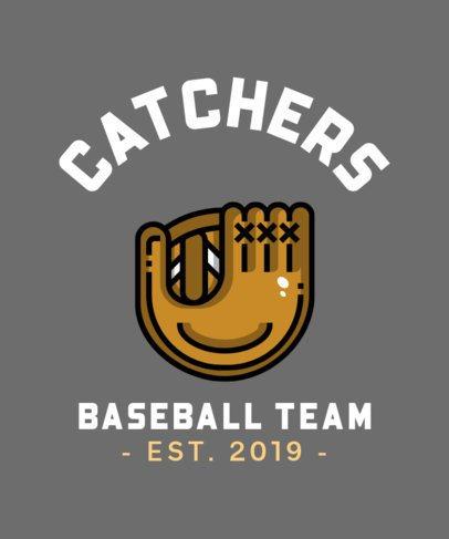 T-Shirt Design Creator for a Baseball Team 313a-el1