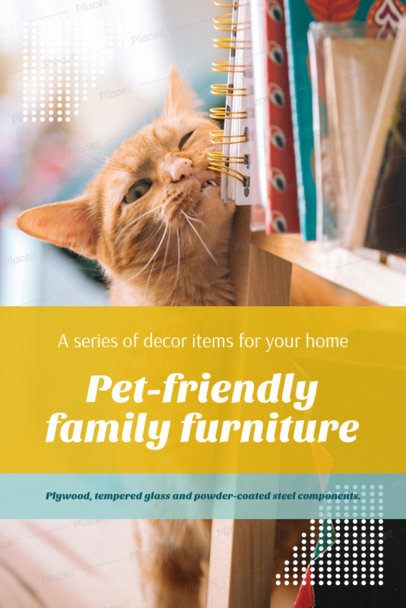 Pinterest Pin Template Featuring Pet-Friendly Posts 2122e