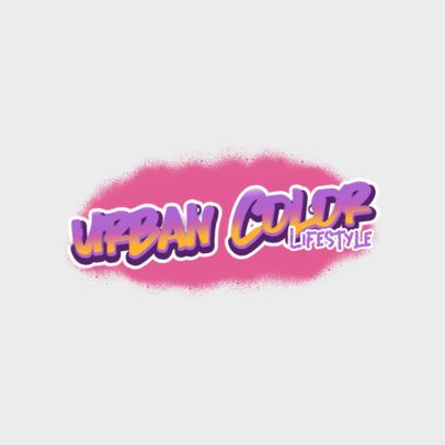 Clothing Brand Logo Generator Featuring a Colorful Graffiti Style 2804i