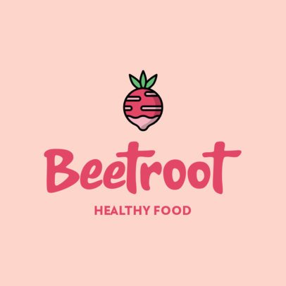 Healthy Food Restaurant Logo Maker with a Vegetable Icon 315a-el1