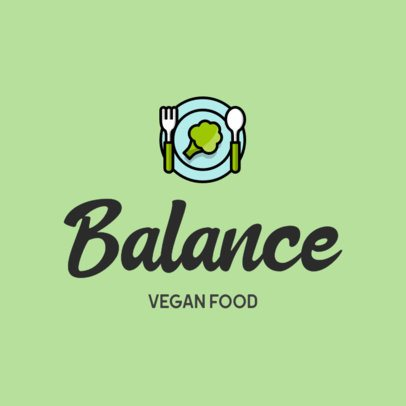 Vegan Restaurant Logo Creator with a Healthy Food Icon 315c-el1