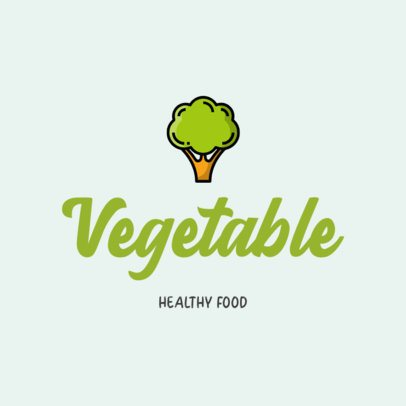 Logo Generator for a Healthy Food Restaurant with a Broccoli Graphic 315d-el1