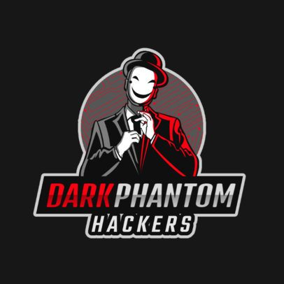 Placeit Gaming Logo Maker Featuring A Hacker Character