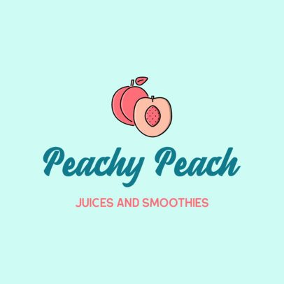 Logo Maker for a Smoothie Place with a Peach Icon 489a-el1
