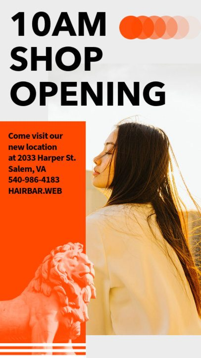 Bold Instagram Story Design Template for a Shop's Grand Opening 2111e