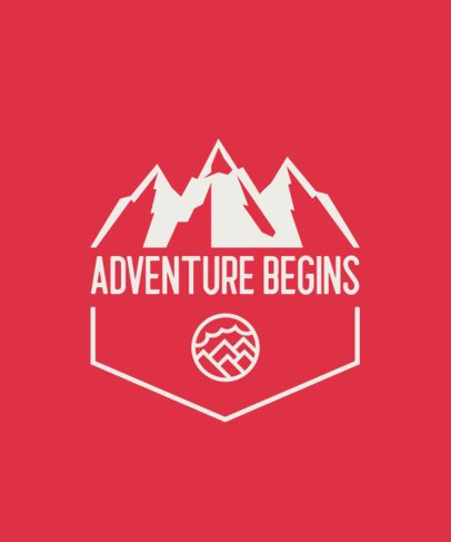 T-Shirt Design Creator with a Mountain Landscape Illustration 201c-el1