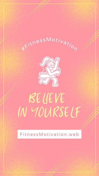 Cool Instagram Story Design Template for a Fitness Motivation Post 2082b