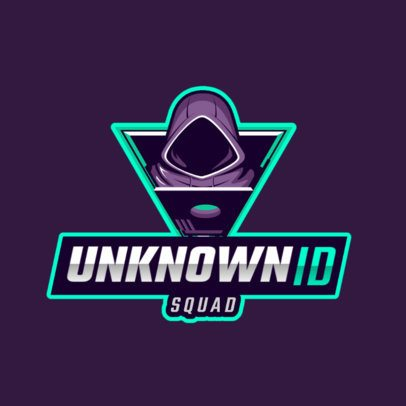 Logo Maker for a Gaming Squad Featuring a Hacker Clipart 2815f