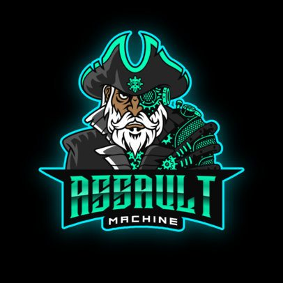 Gaming Logo Maker with a Pirate Robot Character 2811m
