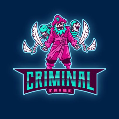 Gaming Logo Creator Featuring a Zombie Pirate Gang 2811r