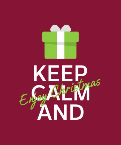 Christmas T-Shirt Design Creator with a Phrase and a Present Clipart 321c-el1