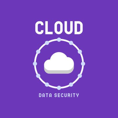 Data Security Business Logo Template with a Cloud Icon 476a-el1