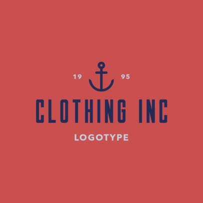 Clothing Store Logo Maker with an Anchor Clipart 1329h-2833
