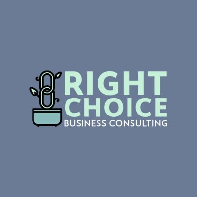 Modern Logo Template for a Consulting Business 492b-el1