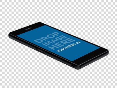 Mockup of a Black Sony Xperia Z3 Lying Flat a11604